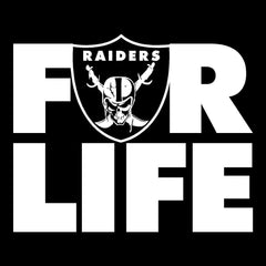 FOR LIFE - Raiders 4 Life Decal/Window Sticker