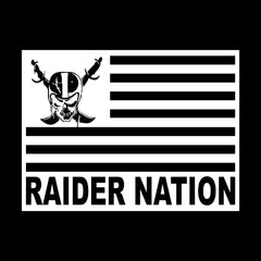 Raiders 4 Life Flag Decal/Window Sticker