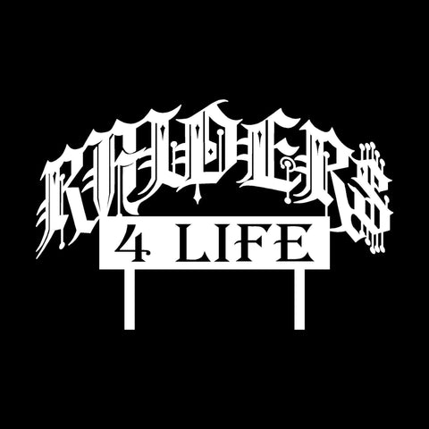 Raiders 4 Life Car Club Plaque Decal/Window Sticker