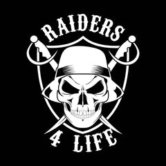 Cholo Skull & Shield Raiders 4 Life Decal/Window Sticker
