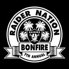 Raider Nation Bonfire - 7th Annual Bolsa Chica Decal/Window Sticker