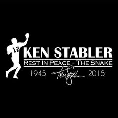"RIP Ken ""the Snake"" Stabler - Raiders 4 Life Decal/Window Sticker"