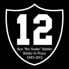 "RIP Ken ""the Snake"" Stabler Shield - Raiders 4 Life Decal/Window Sticker"