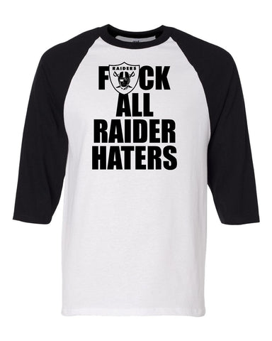 F ALL HATERS - Baseball 3/4 Sleeve R4L Tee
