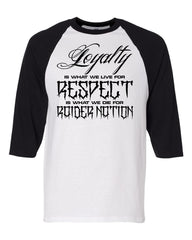 Loyalty & Respect - Baseball 3/4 Sleeve R4L Tee