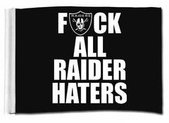 F ALL HATERS - 3'X5' Raiders 4 Life Banner