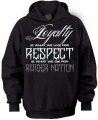 Loyalty & Respect Raiders 4 Life Pullover Hoodie
