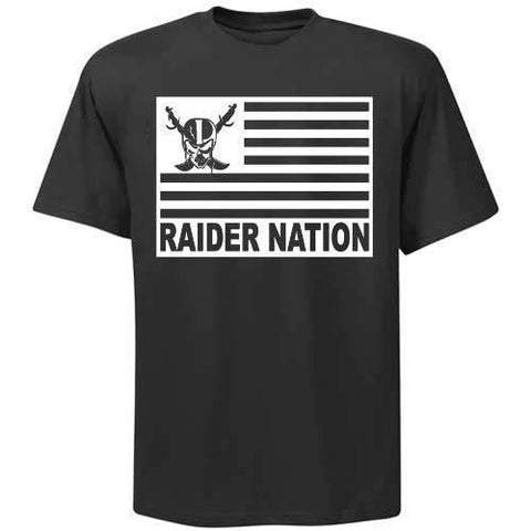 Raiders 4 Life Flag Tee Shirt