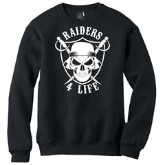 Cholo Skull & Shield - Raiders 4 Life Sweater