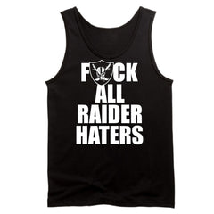 F ALL HATERS - Raiders 4 Life Tank Top