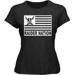 Raiders 4 Life Flag  Women's Shirt