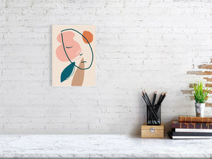 A Sleeping Head Waiting For the Spring Giclée art print