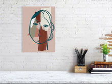 Load image into Gallery viewer, Slightly Sad Head Giclee Fine Art Print 30 x 40cm, 50x70 cm