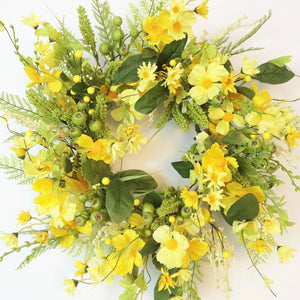 Yellow Spring Floral Wreath