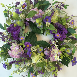 Purple Lavender Spring Wreath