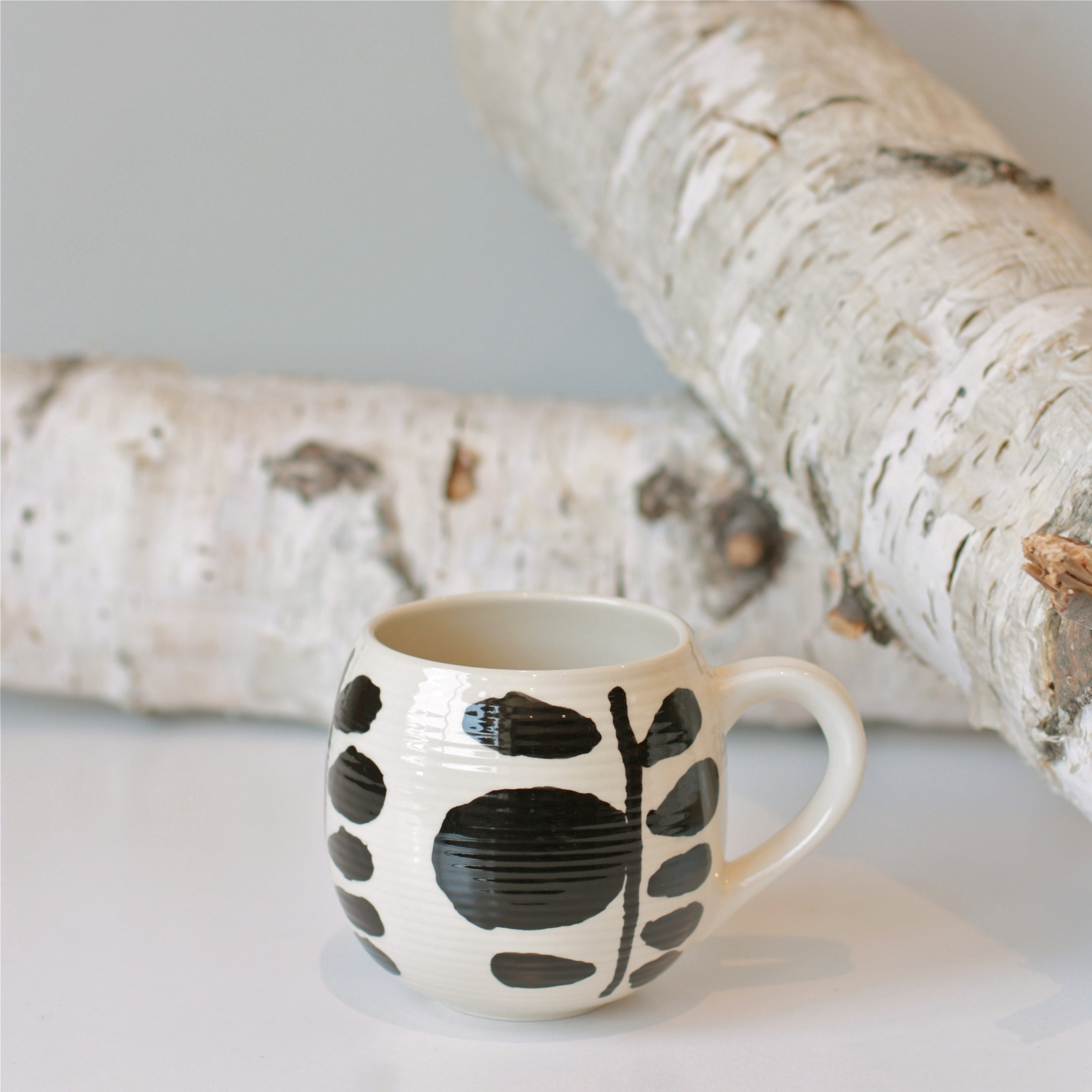 Black & White Ceramic Mug