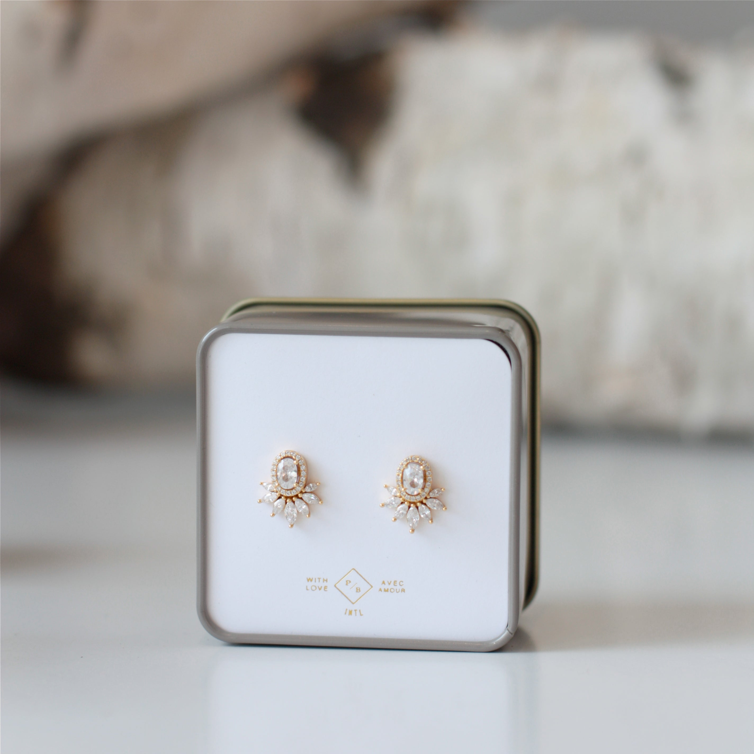 Pika & Bear Studs Fine Earrings- Gold