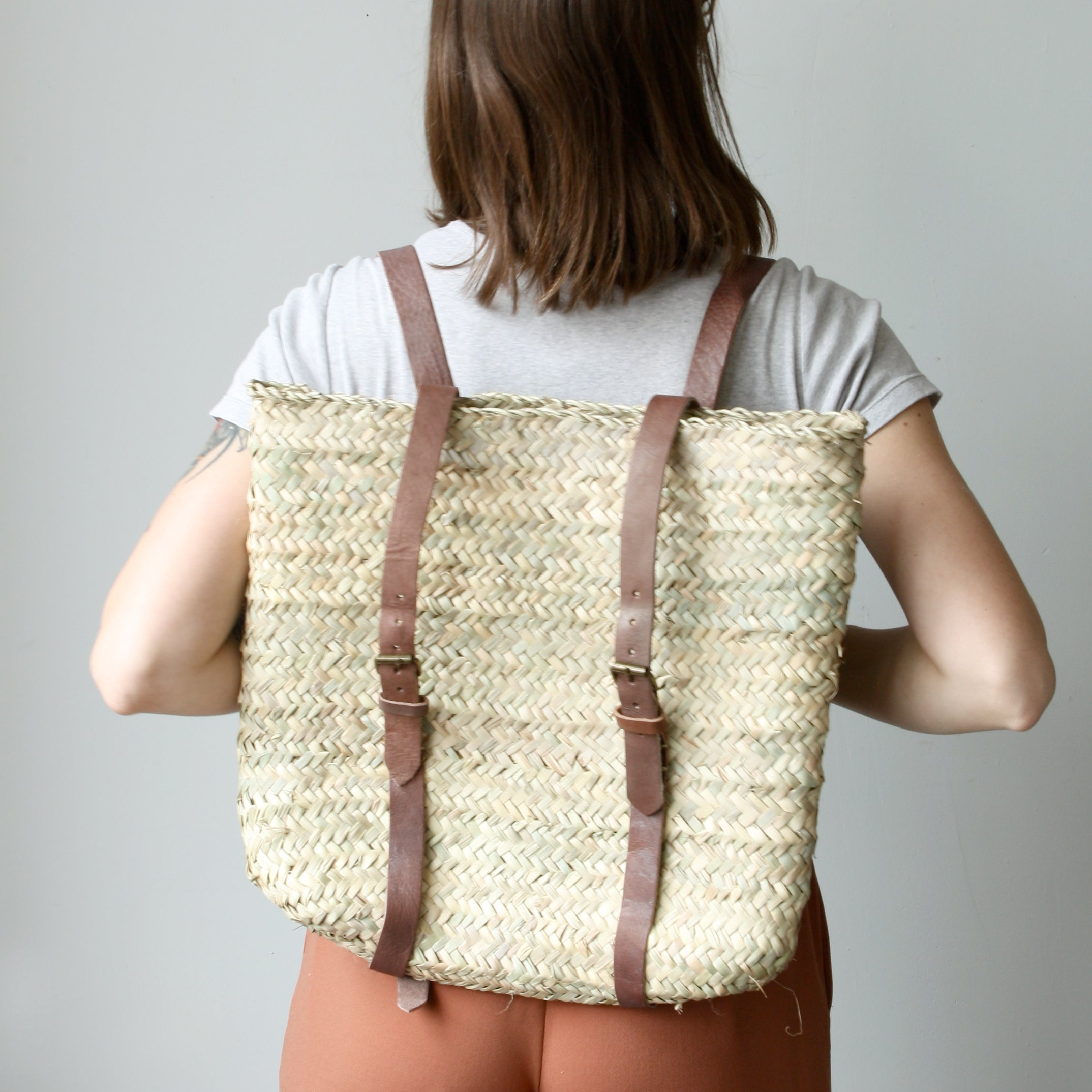 Woven Market Backpack