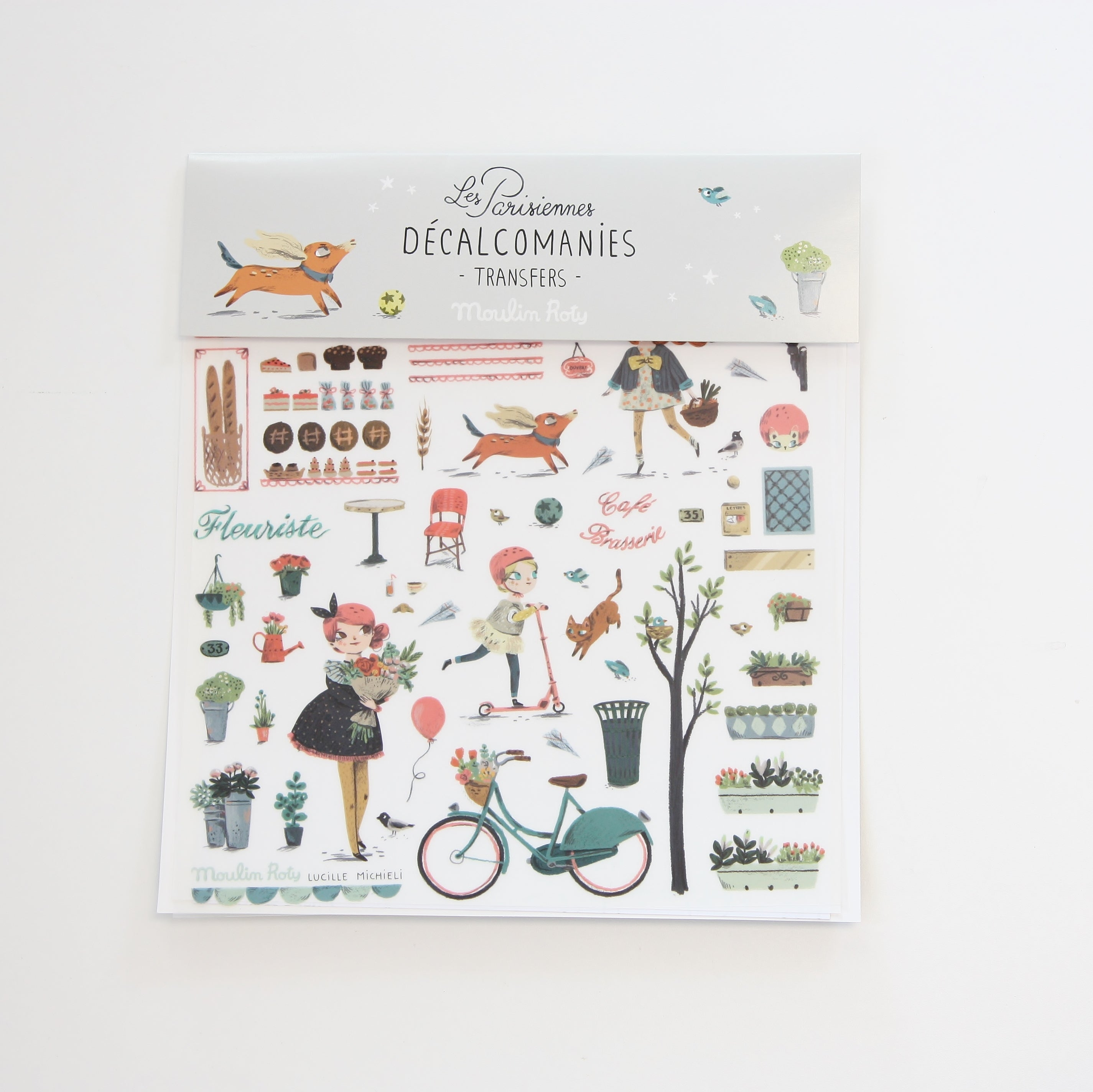 Les Parisiennes - Transfer Decals and Colouring Page