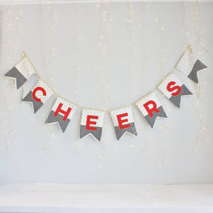 "Red ""Cheers"" Bunting"