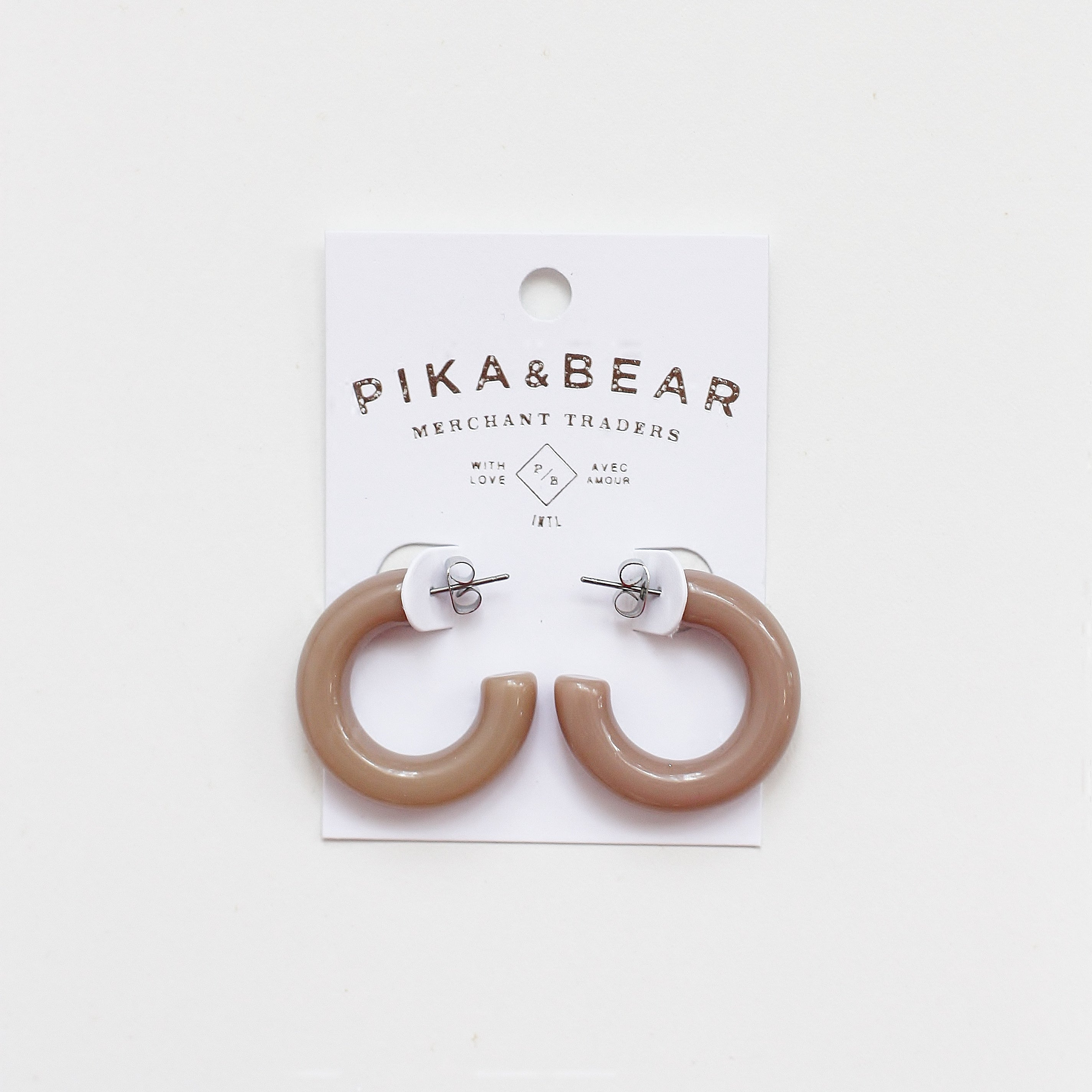 Pika & Bear- Acetate Earrings