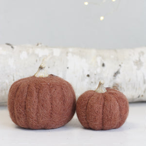Felt Decor Pumpkins
