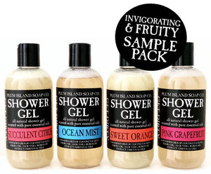 SHOWER GEL SAMPLE PACK - INVIGORATING & FRUITY
