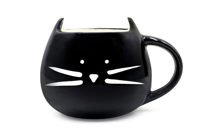 Whiskered Cat Mug