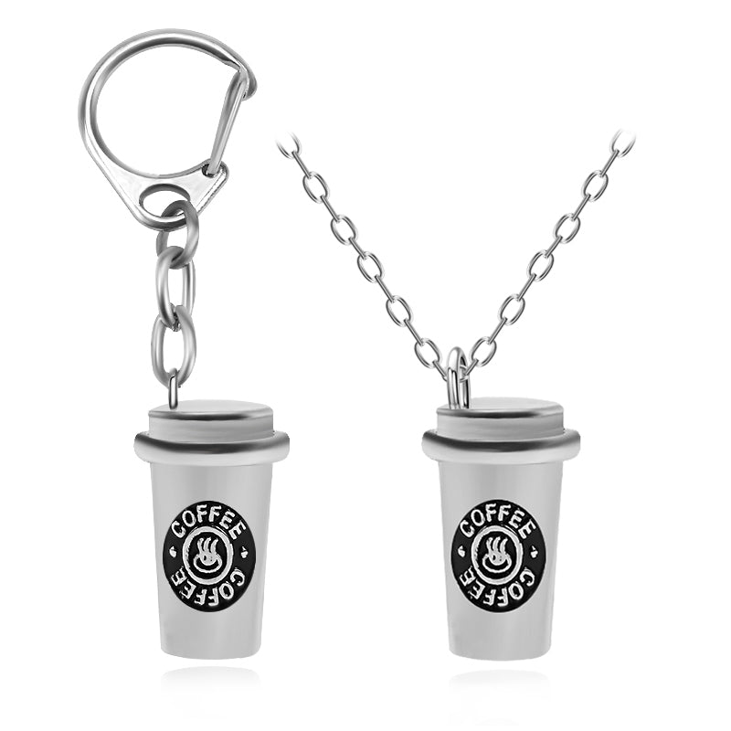 Coffee Cup Necklace/Keychain