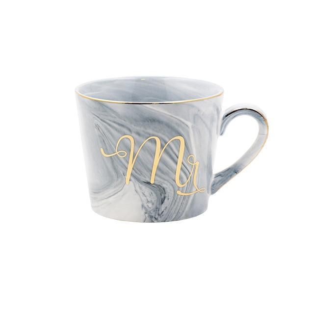 Marble Mr. and Mrs. Mug