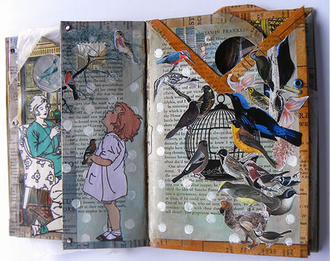 uncaged collage art journal