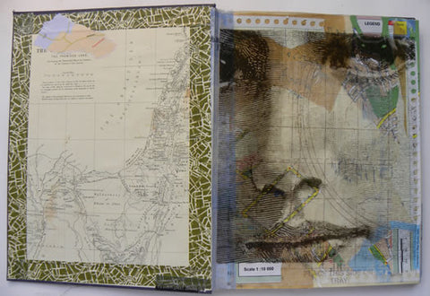 altered book - collage with washi tape