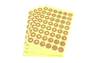 Hang Tag Donut Hole kraft Ring Label Stickers 5 Sheet (240 total)