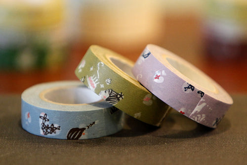 Girl Fun Japanese Washi Tape, Birthday Cake, Heart, Celebration
