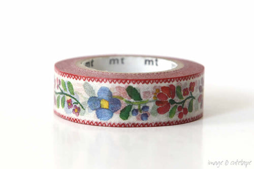 Floral Embroidery MT Ex Washi Tape Japanese