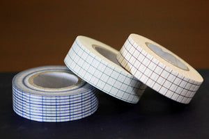 Japanese Grid Washi Tape THIN GRID Blue Green Brown 18mm