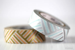 Corner MT Washi Tape Gold Blue Peach Silver Masking Tape