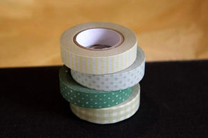 Stripe Dots Grid 13mm (P) - Greens
