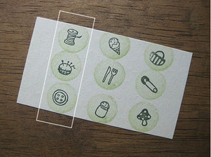 Cute Button Pushpin Thread Stamp Set of 3