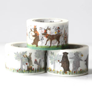 Rabbit Bear Squirrel Band MT Ex Washi Tape Japanese
