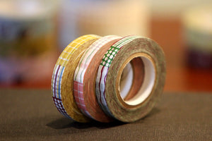 Colorful Wiggly Textile Pattern 8mm Washi Tape
