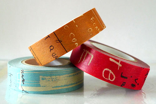 Graffiti Washi Tape Dark Japanese (B)