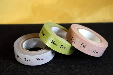 Days of the Week Washi Tape 15mm