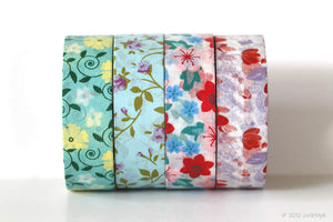 Floral Flowers Washi Tape Chugoku