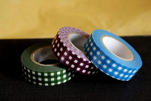Thick Gingham Japanese Washi Tape 15mm (A)