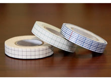 Japanese Washi Deco Tape THIN GRID Blue Green Brown 12mm - Set of 3 (K)