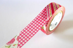 MT EX Flowers Washi Tape - RED (discontinued)