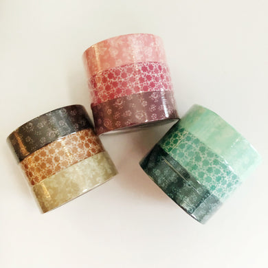 Coffret du Couturier Japanese Washi Tape - Floral Pattern Set of 3
