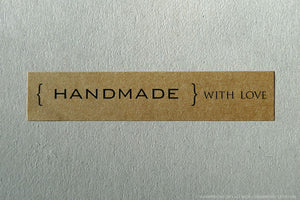 Handmade with Love Stickers Kraft Labels (104)