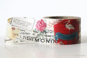 Wide Paris Rose Washi Tape